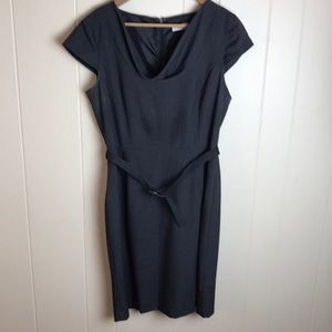 Calvin Klein Gray Sheath Dress w/ Cowl Neck